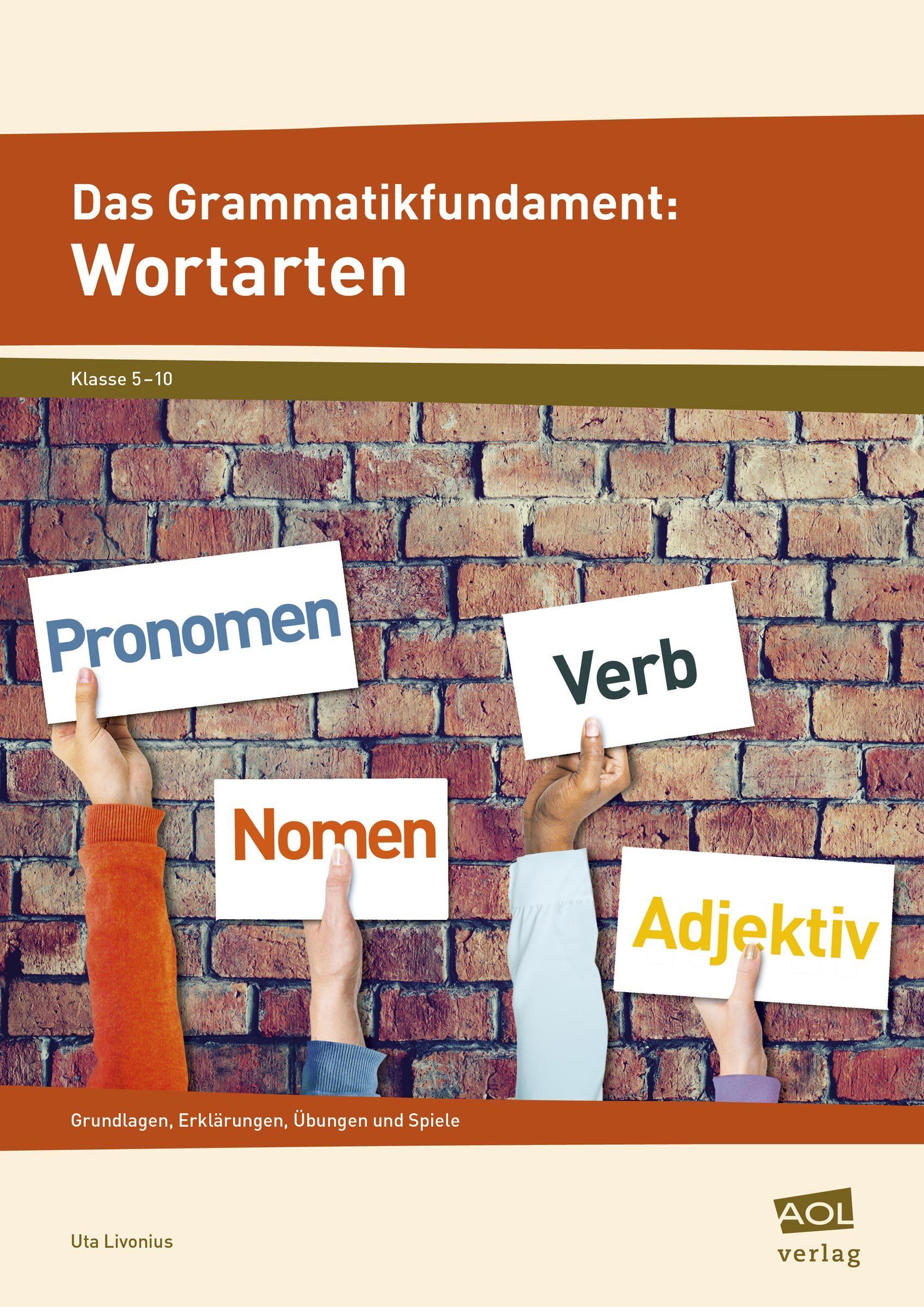 Cover_Das Grammatikfundament: Wortarten